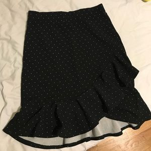 MUST GO 🌼 S A-Line Polka Dot Skirt
